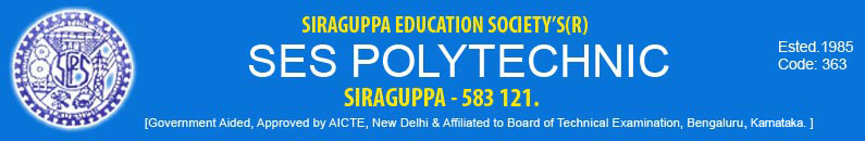 S.E.S.Polytechnic College(Govt Aided), Siraguppa, Bellary